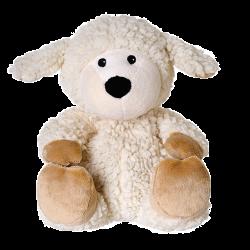 Grelna blazina - igrača Warmies na kmetiji, ovčka, bela