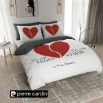 POSTELJNINA DC PIERRE CARDIN HIM/HER WHITE RED, 140X200/220
