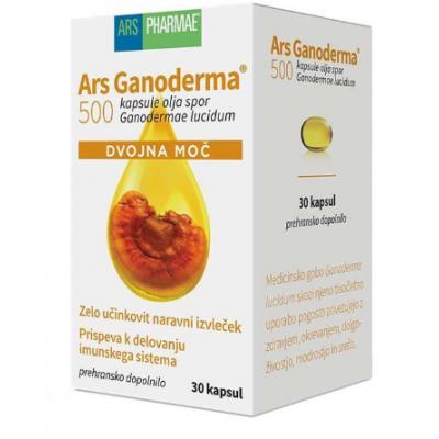 Ganoderma 500 Dvojna Moč Ars Pharmae, 30 kps